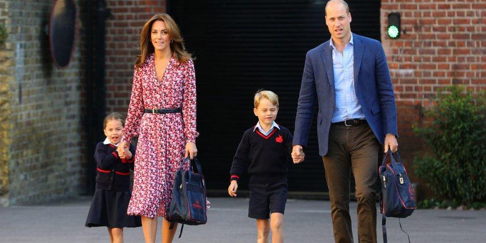 Prinzessin Charlotte geht zur Schule