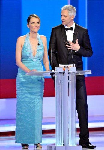 Marietta Slomka und Christoph Lang beim Deutschen Fernsehpreis