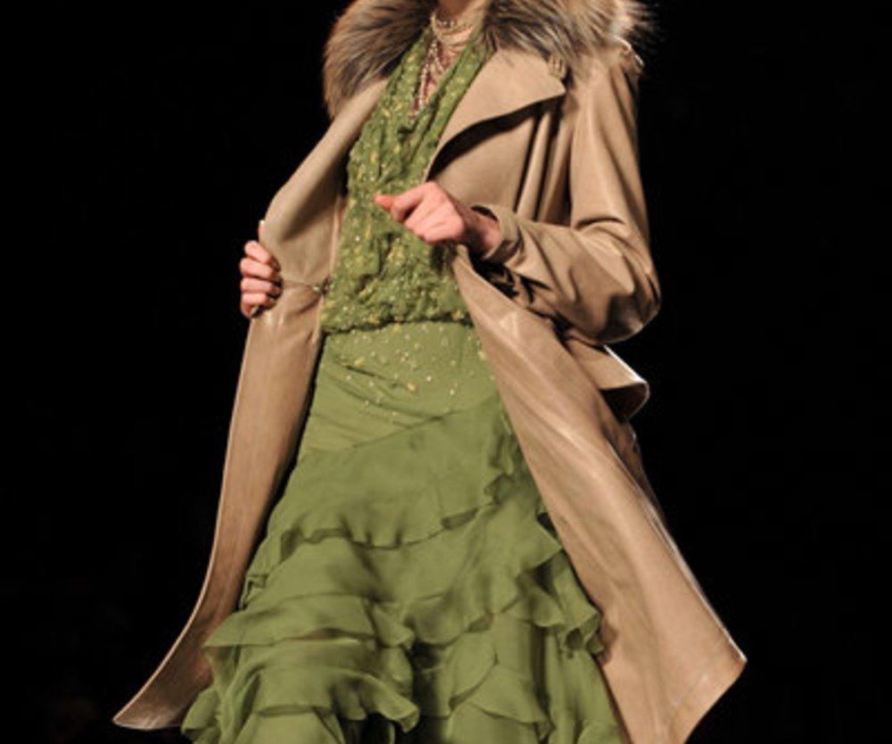 Christian Dior: grünes Kleid