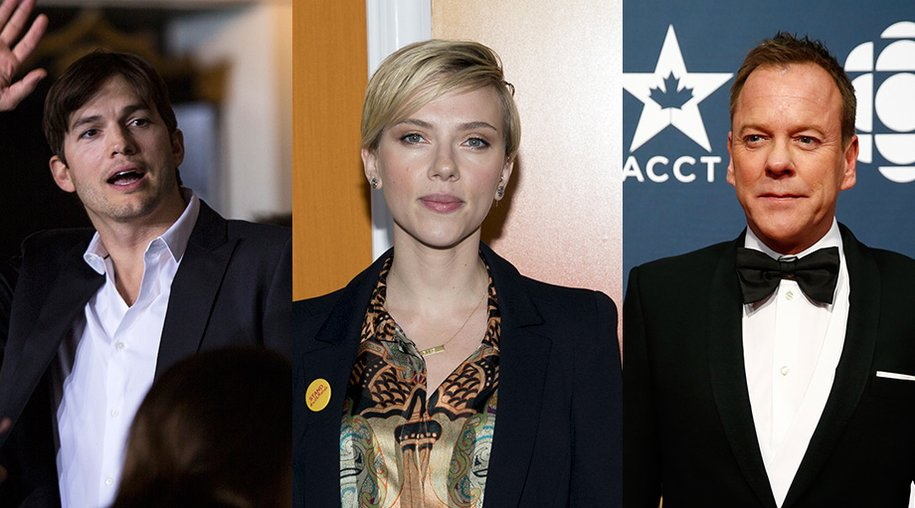 Ashton Kutcher, Scarlett Johansson, Kiefer Sutherland