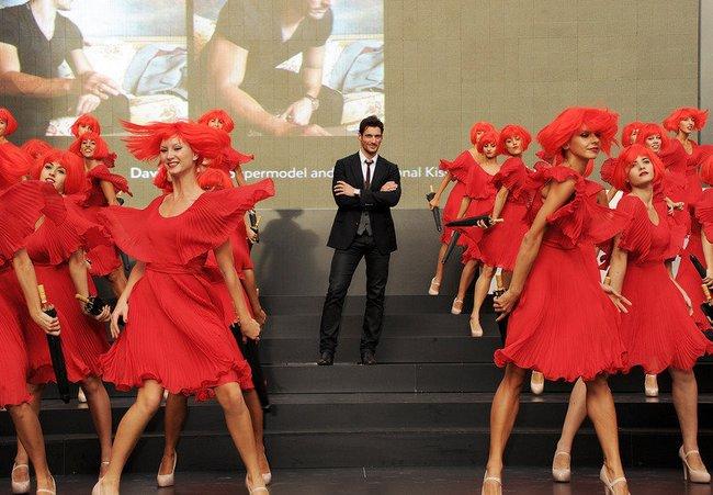 David Gandy präsentiert sich in Rom