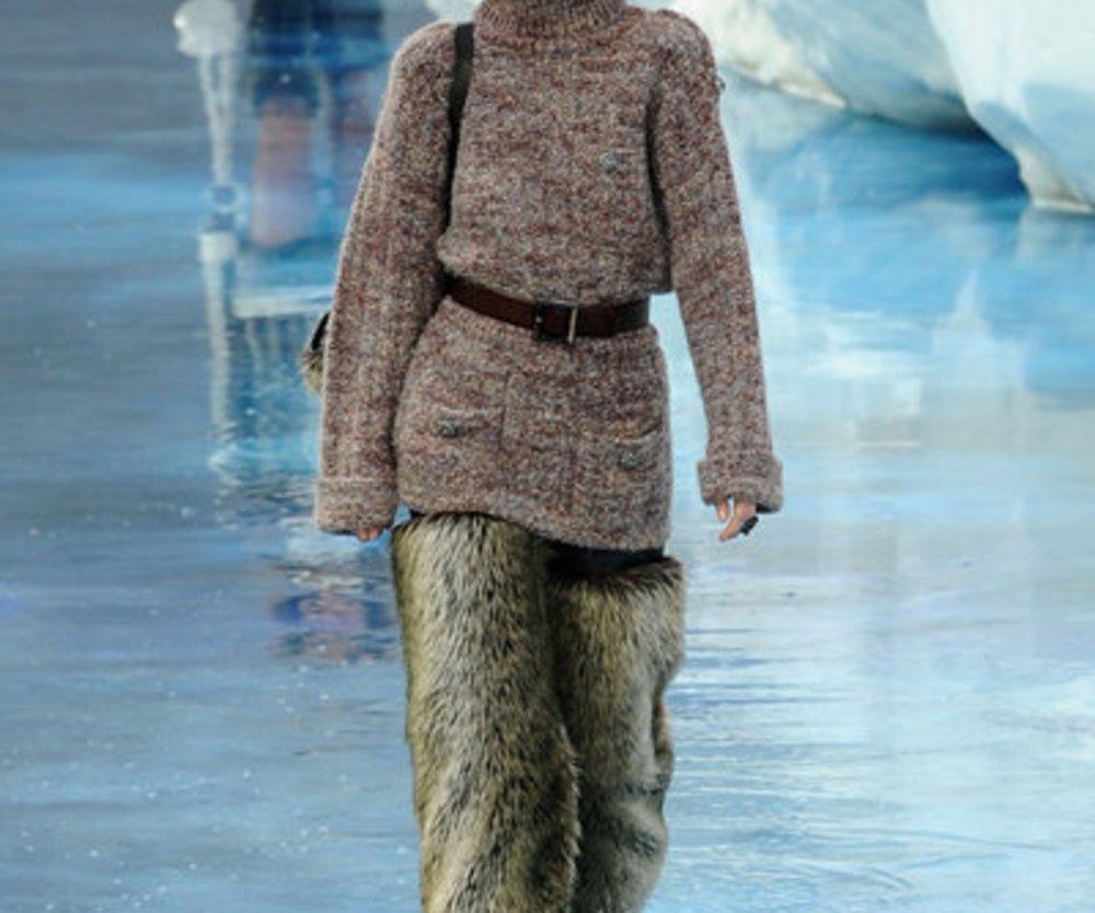 Yeti-Look von Chanel