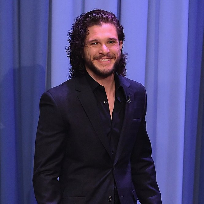 "NEW YORK, NY - MAY 13:  Kit Harington Visits ""The Tonight Show Starring Jimmy Fallon"" at Rockefeller Center on May 13, 2016 in New York City.  (Photo by Theo Wargo/Getty Images for NBC)"