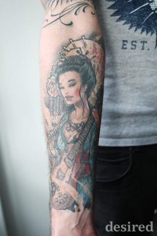 Geisha Tattoo Vorlage