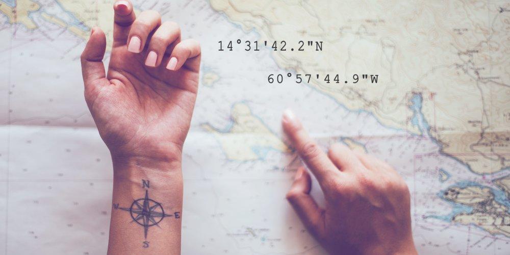 Koordinaten-Tattoo
