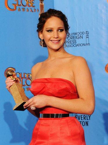Jennifer Lawrence freut sich über ihren großen Erfolg.