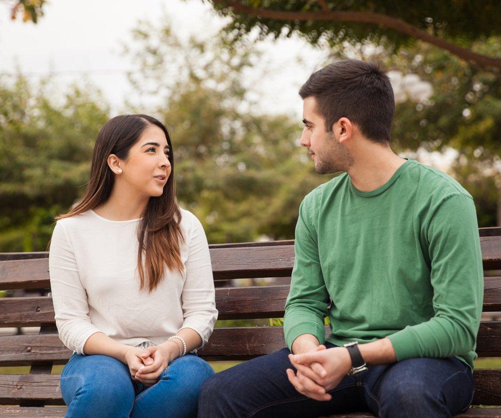 Paar sprechen