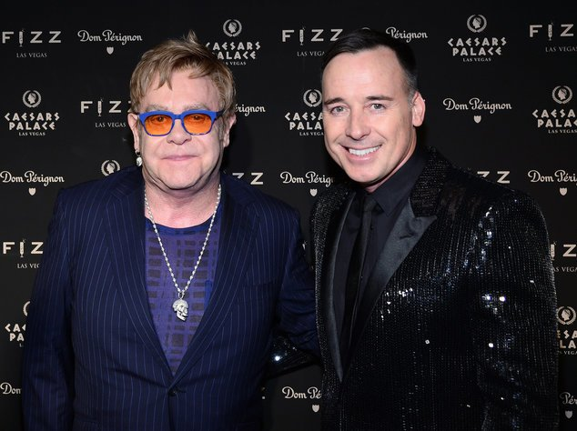 Elton John und David Furnish bei einem Event in Las Vegas