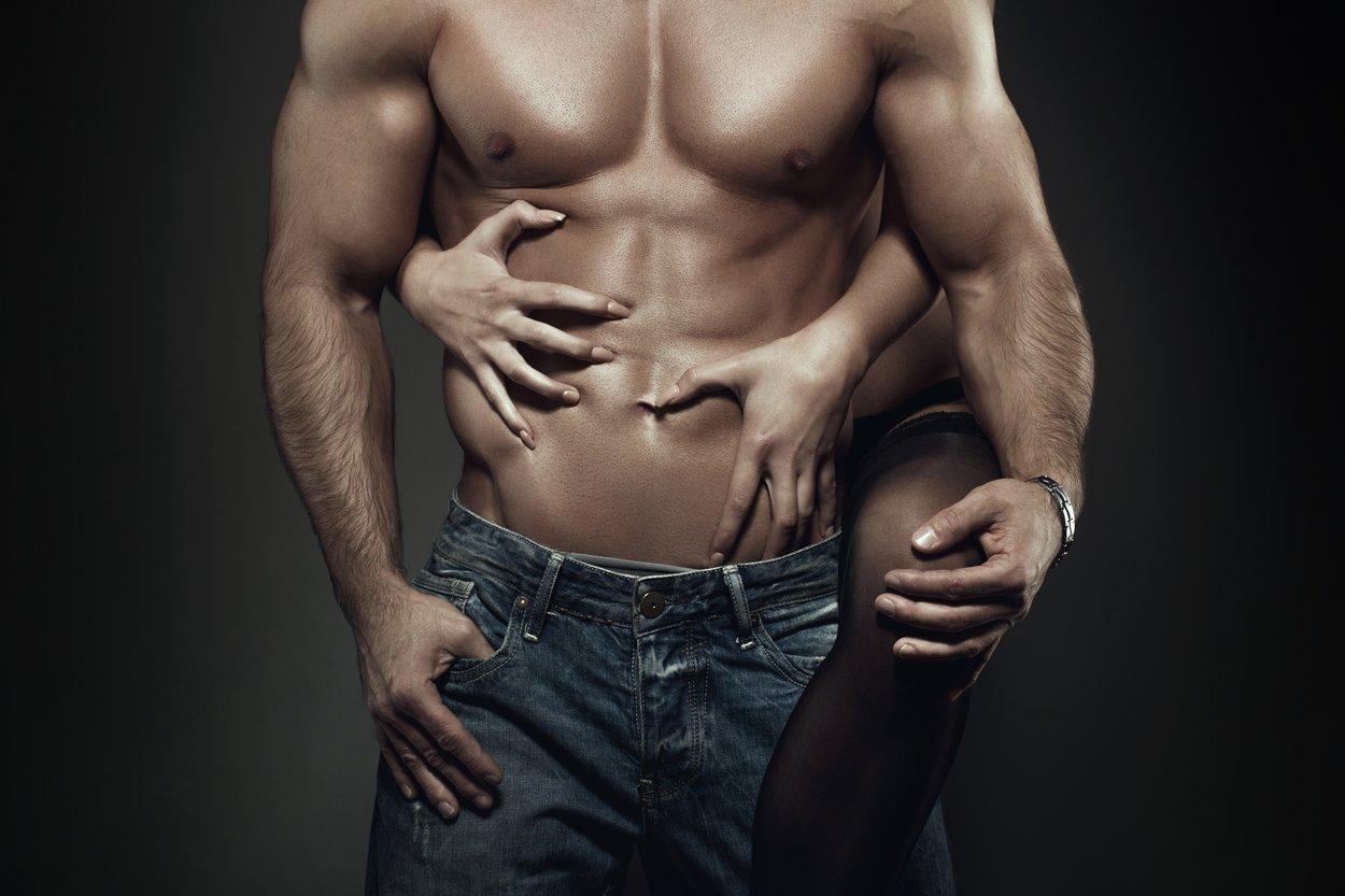 Siehst du das V, das seine Muskeln bilden?