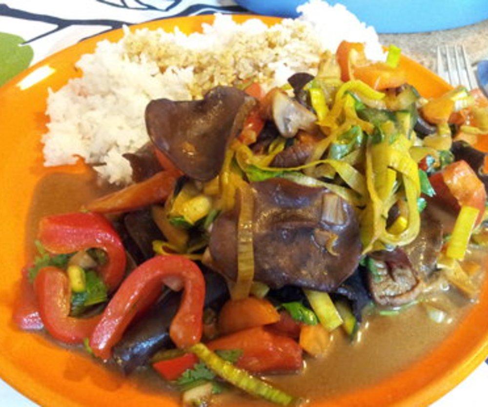 Reispfanne Gemüse