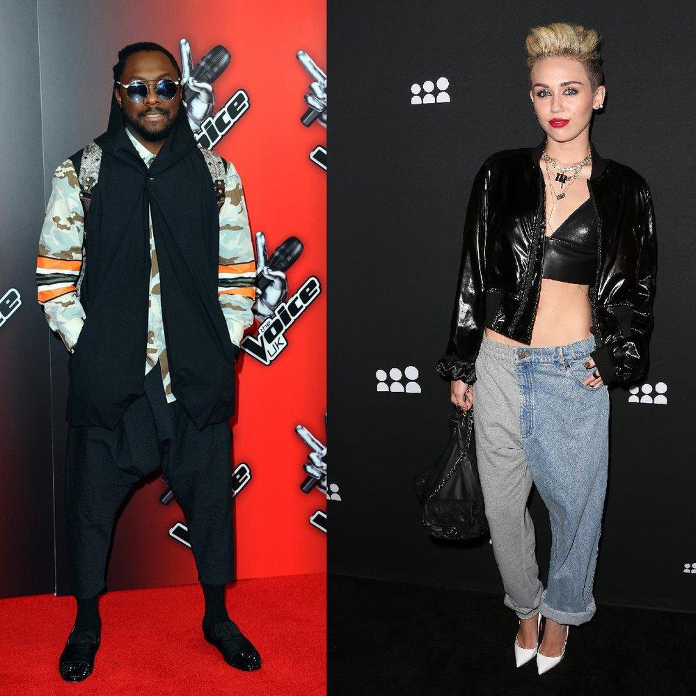 Miley Cyrus und will.i.am sind auf einer Wellenlänge