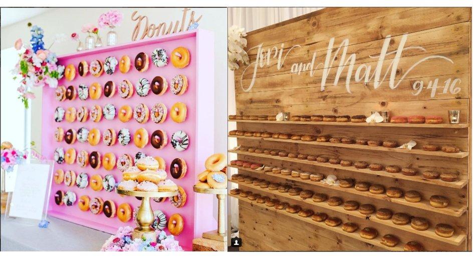 Donuts Hochzeit Wand