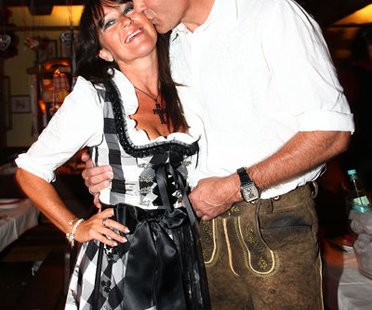 Henry Maske und Manuela Maske auf der Wiesn.