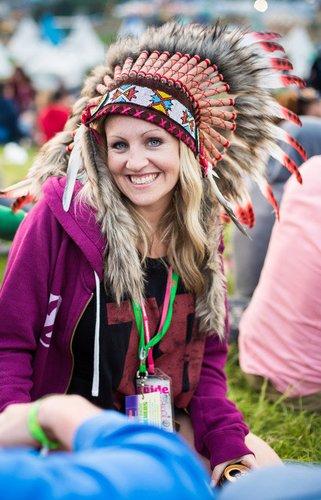 Indianer-Kopfschmuck als Festival-Look