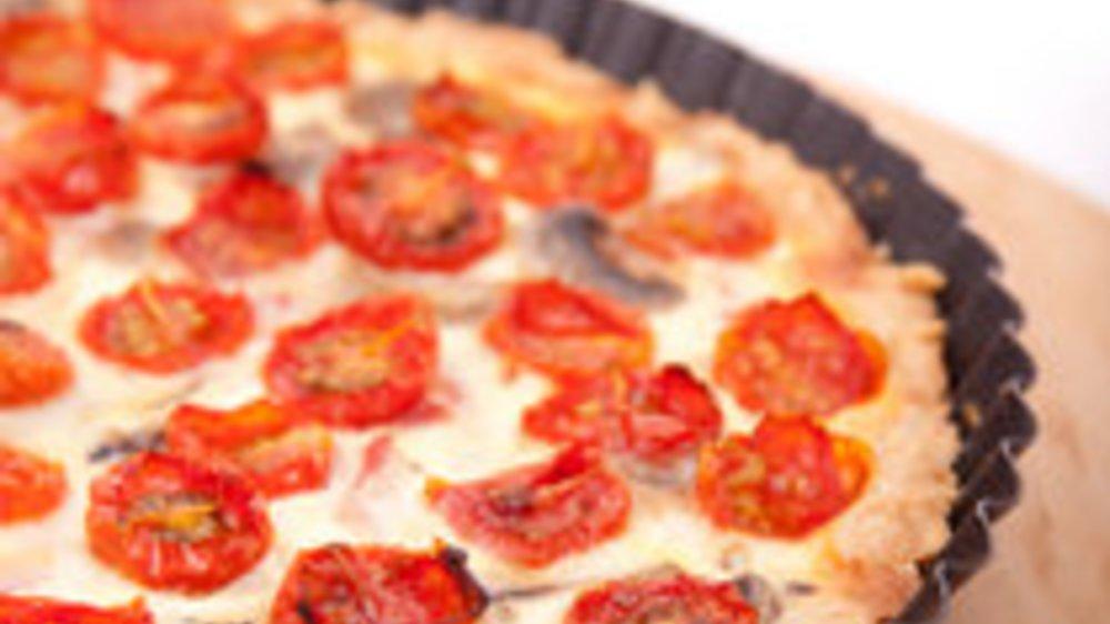 Quiche mit frischen Tomaten