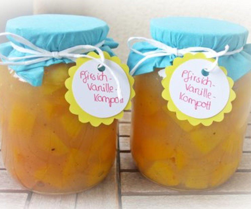 Schnelles Pfirisch-Vanille-Kompott