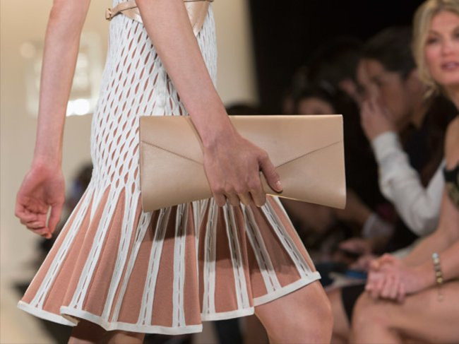 Herve Leger By Max Azria Nude-Clutch