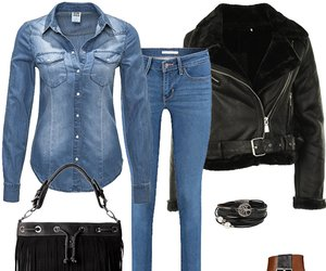 Outfit des Tages: Dark Denim