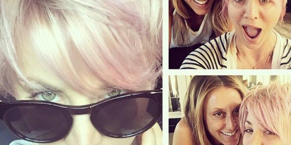 Kaley Cuoco liebt ihren pinken Hairstyle