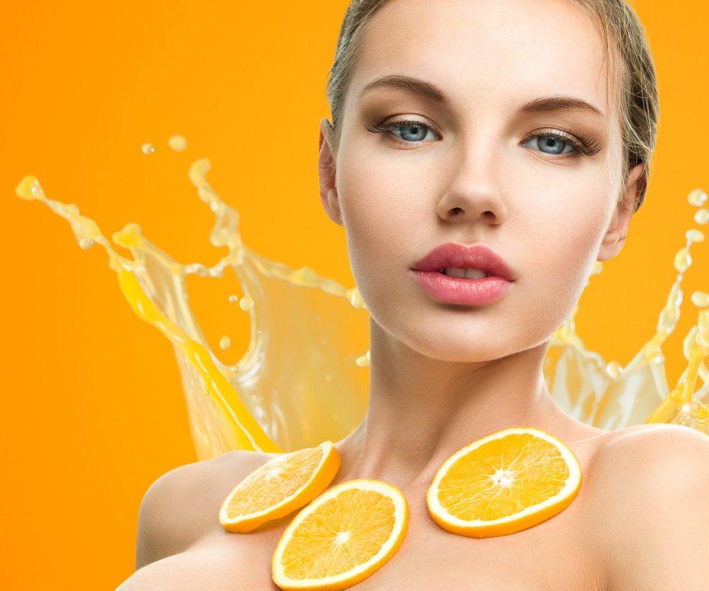 Orangen unter der Dusche