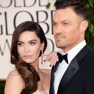 BEVERLY HILLS, CA - JANUARY 13: Actress Megan Fox (L) and actor Brian Austin Green arrive at the 70th Annual Golden Globe Awards held at The Beverly Hilton Hotel on January 13, 2013 in Beverly Hills, California. (Photo by Jason Merritt/Getty Images)