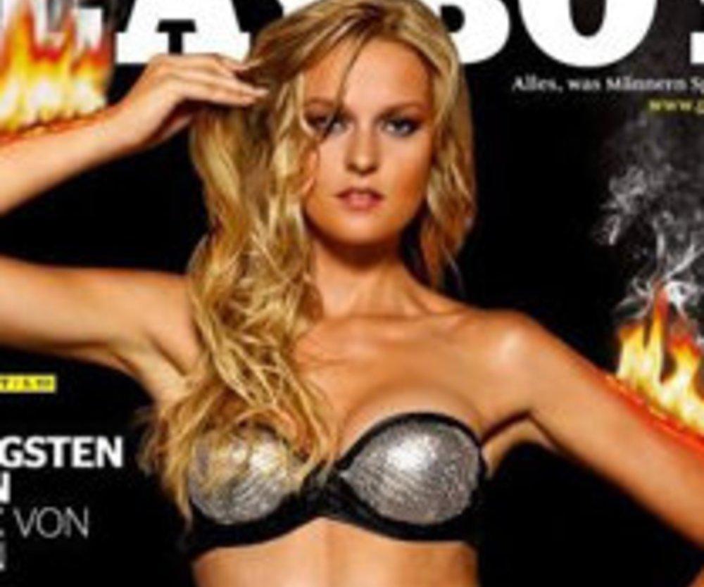 Germanys Next Topmodel Kandidatin brennend im Playboy