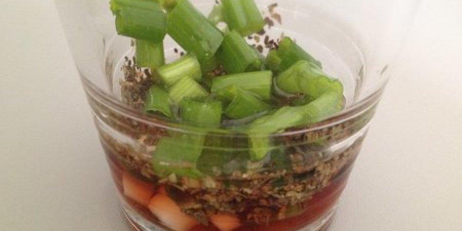 Salatdressing Essig Öl