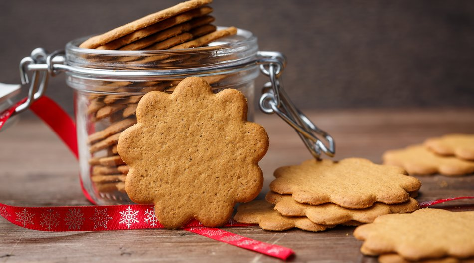 kalorienarme Weihnachtsplätzchen