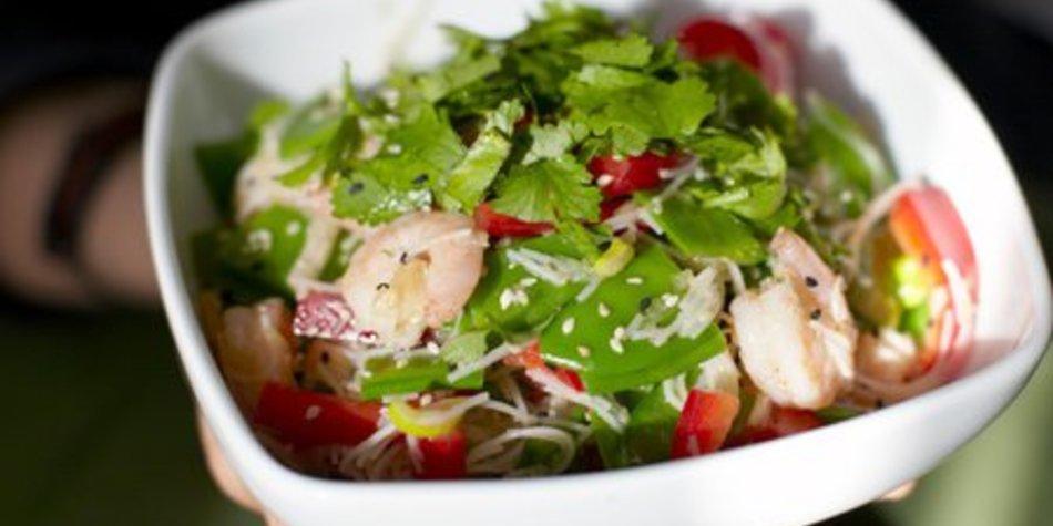 Zuckererbsen Salat