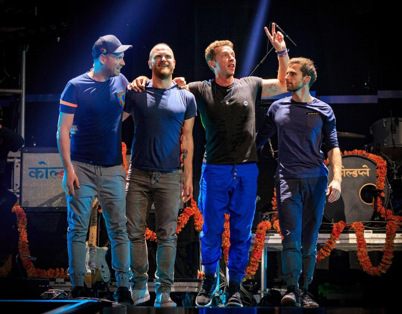 Coldplay auf der Bühne