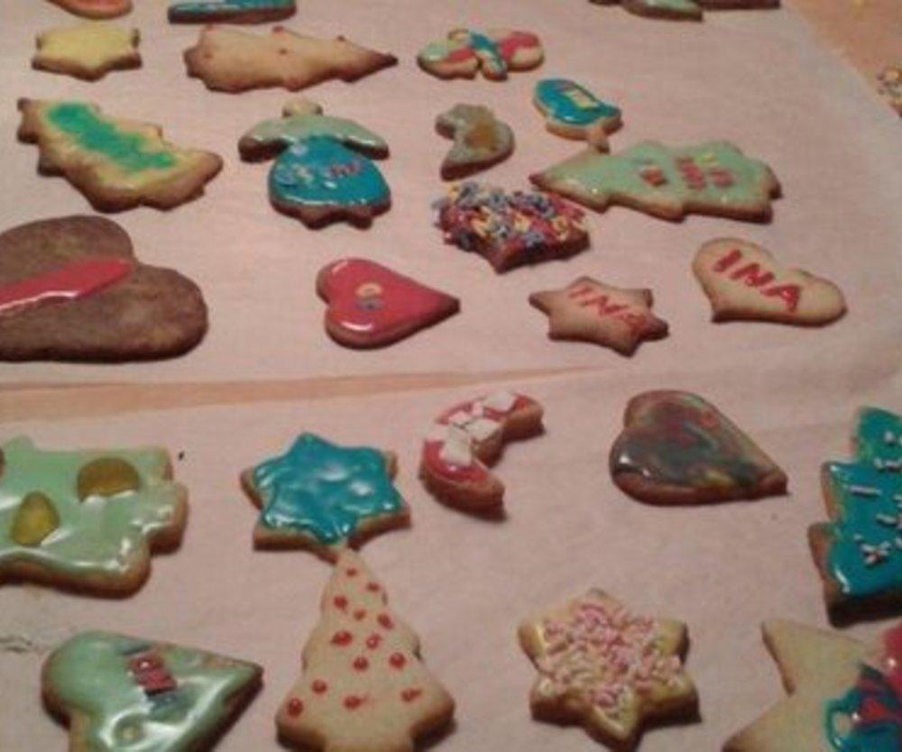 Dekorierte Weihnachtsplätzchen