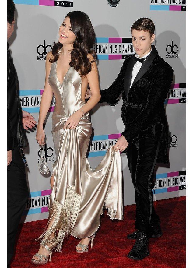 Justin Bieber und Selena Gomez bei den American Music  Awards 2011