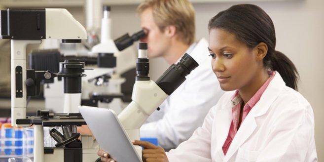 Polkörperdiagnostik: Wissenschaftler im Labor.