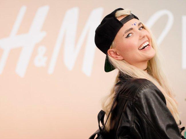 Bonnie Strange beim H&M Pop-Up-Store