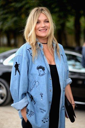 Kate Moss Jeansjacke mit Aufnähern