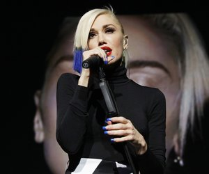 "NEW YORK, NY - OCTOBER 17: Gwen Stefani debuts her newest single ""Used To Love You"" during her performance presented by MasterCard exclusively for its cardholders at Hammerstein Ballroom at the Manhattan Center on October 17, 2015 in New York City. (Photo by Christopher Polk/Getty Images for MasterCard)"