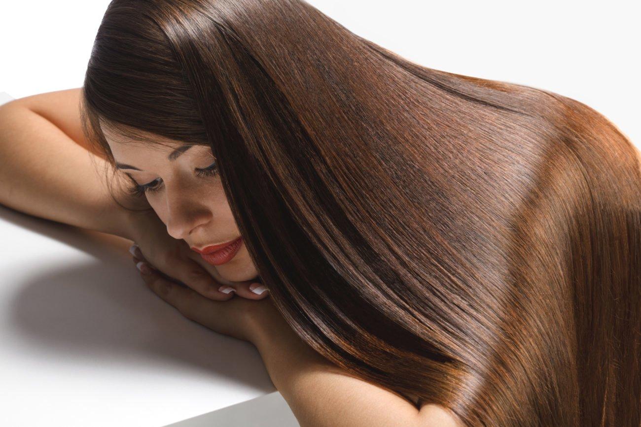Sehr glänzende Haare