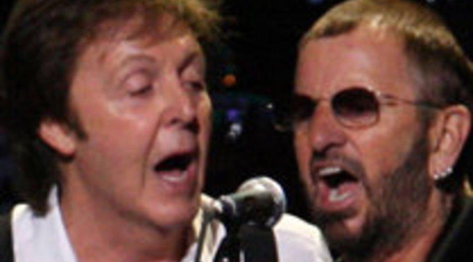 Paul McCartney und Ringo Starr gemeinsam auf der Bühne
