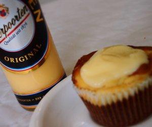 Cheescake Muffins mit Eierlikör on top