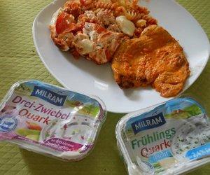 Tomaten-Nudel-Auflauf mit Milram Quark