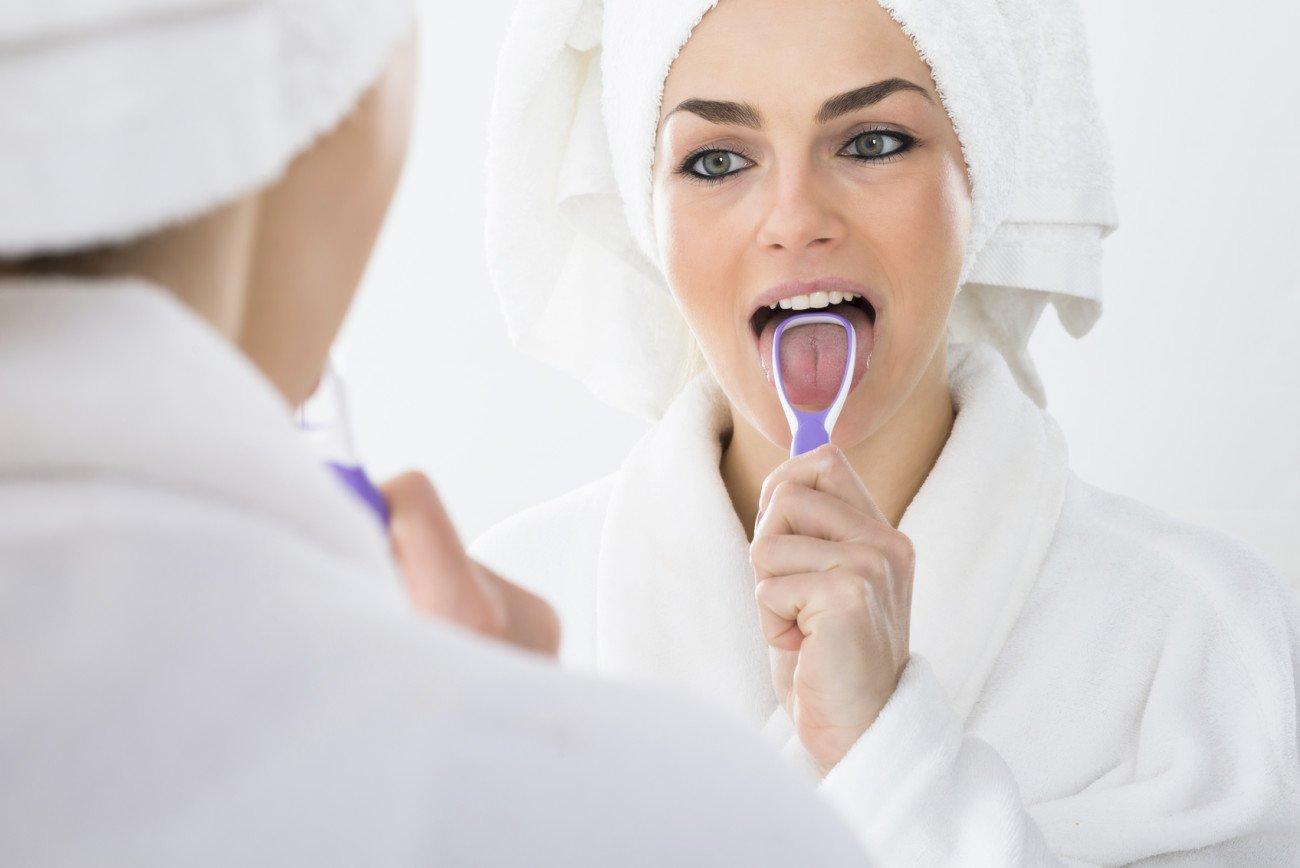 Zunge reinigen