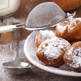 Traditional Croatian cookies called fritule