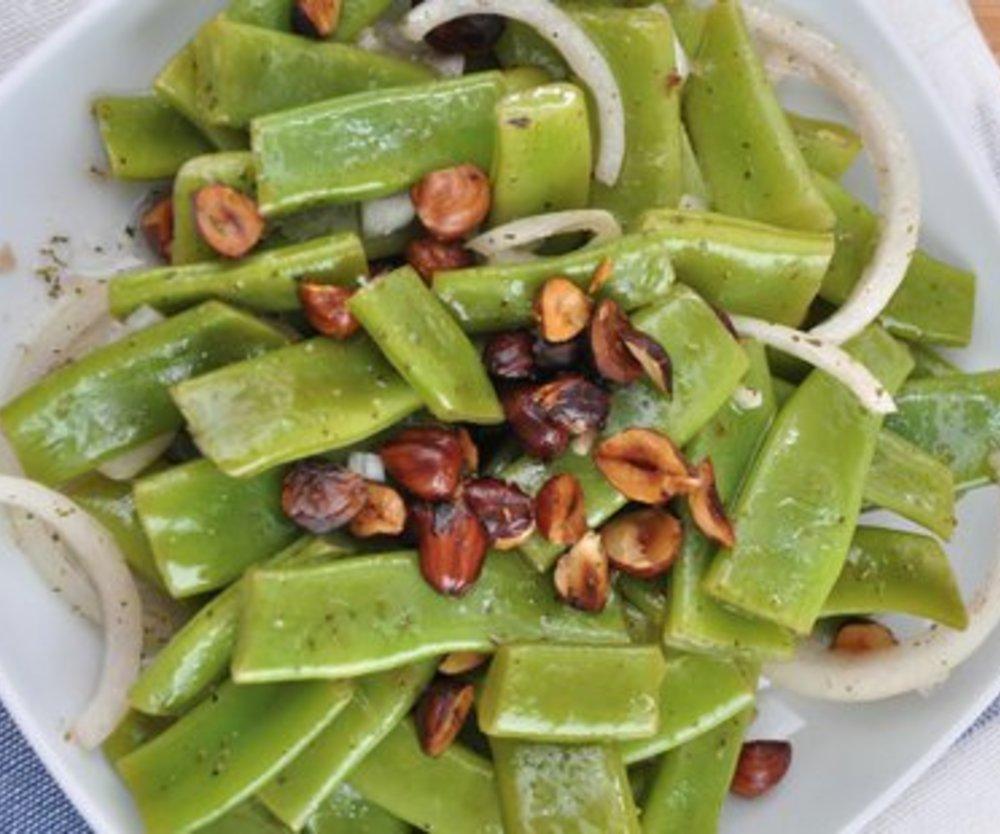 Zuckerschoten Salat