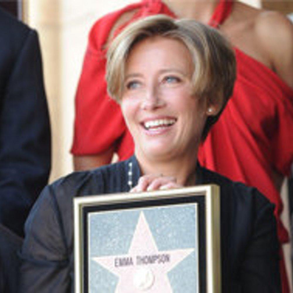 Emma Thompson erhält Stern auf dem Walk of Fame