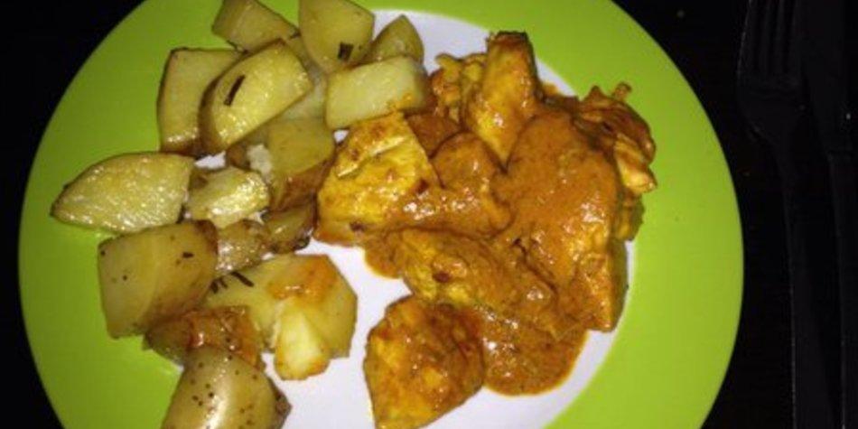 Hähnchengeschnetzeltes Curry