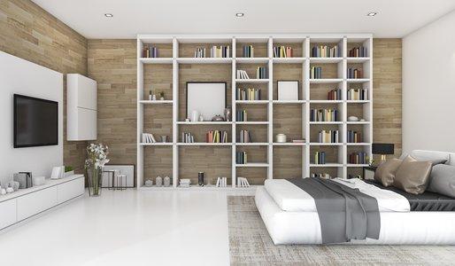 Minimalistisch wohnen Wohnzimmer Schlafzzimmer