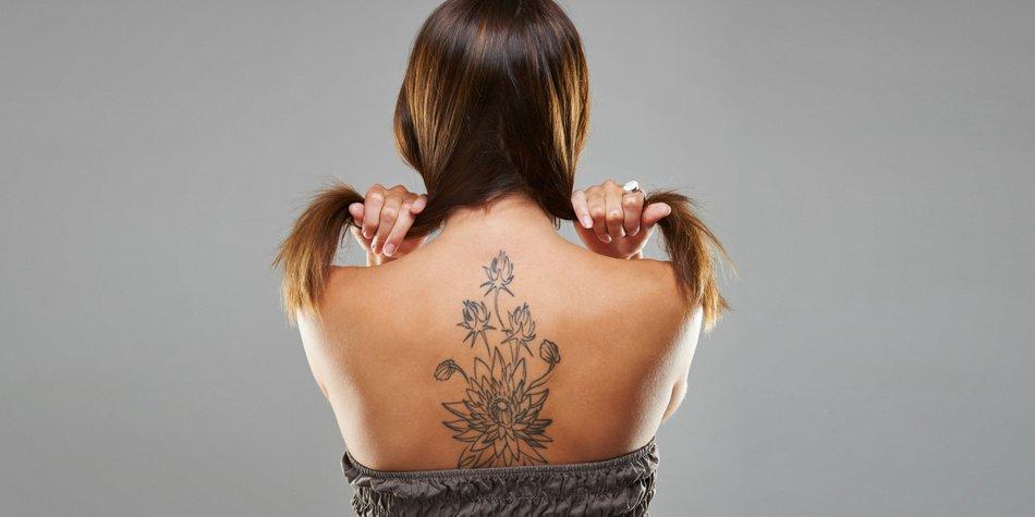 Tattoo entzündet - Rückentattoo