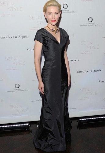 Schauspielerin Cate Blanchett schick auf einer Gala