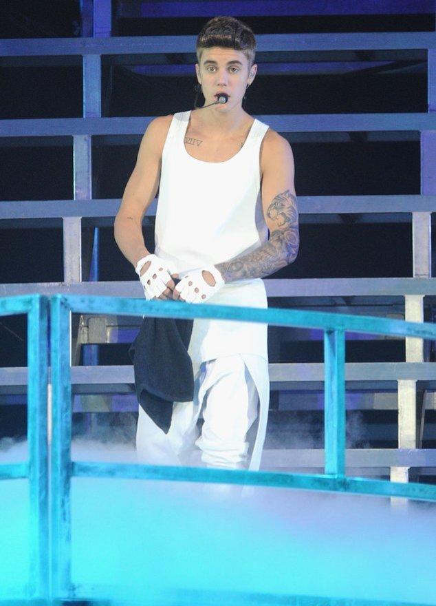 Justin auf der Bühne