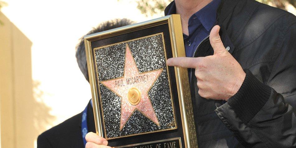 Paul McCartney hat jetzt einen Stern